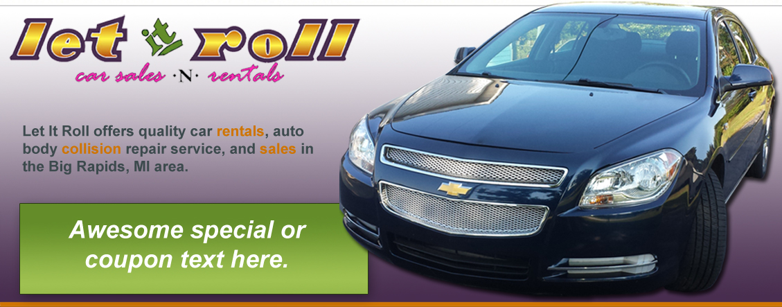 car rental big rapids mi	  Let It Roll - Car Sales and Rentals located in Big Rapids, MI